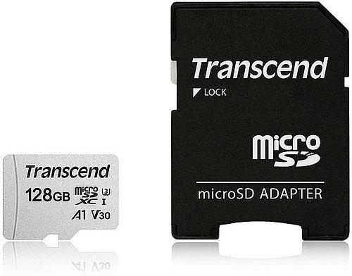 Карта MicroSD 128 ГБ Transcend 300S UHS-I, 95 Mb*s