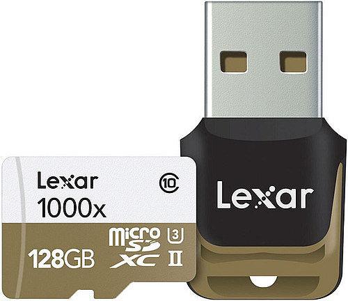 Карта MicroSD 128 ГБ Lexar UHS-II с USB картридером