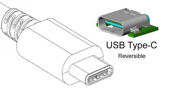 Двухсторонний разъём  USB-C