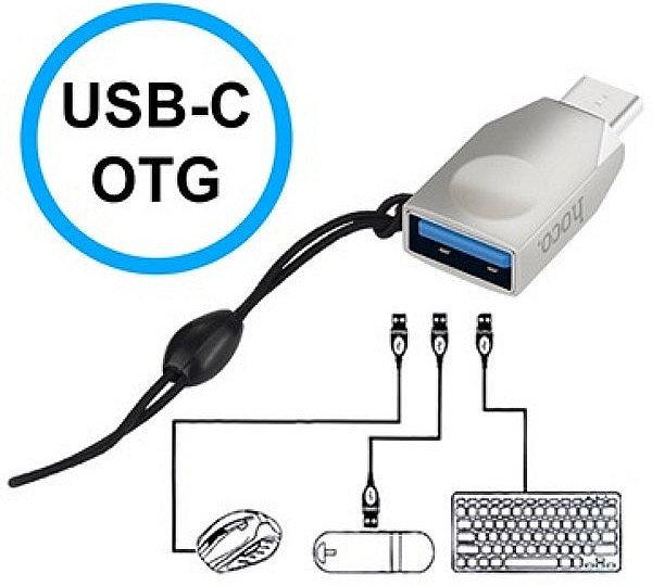 Адаптер OTG USB Type-C Hoco UA9